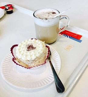 Een heerlijk gebakje, van druk naar geluk